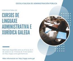 A EGAP convoca 28 cursos de linguaxe administrativa e xurídica galega para o persoal da CA de Galicia